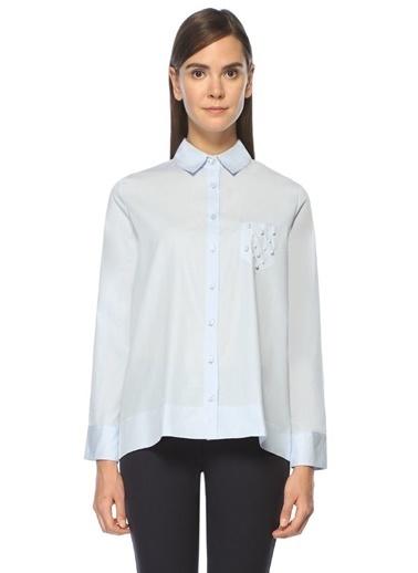 Uzun Kollu İngiliz Yaka Poplin Gömlek-Beymen Club